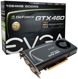 EVGA GeForce GTX460 Superclocked 1024 MB DDR5 PCI-Express Graphics Card with Lifetime Warranty 01G-P3-1373-AR