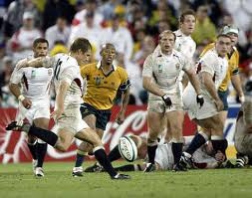 Jonny Wilkinson in the 2003 world cup final
