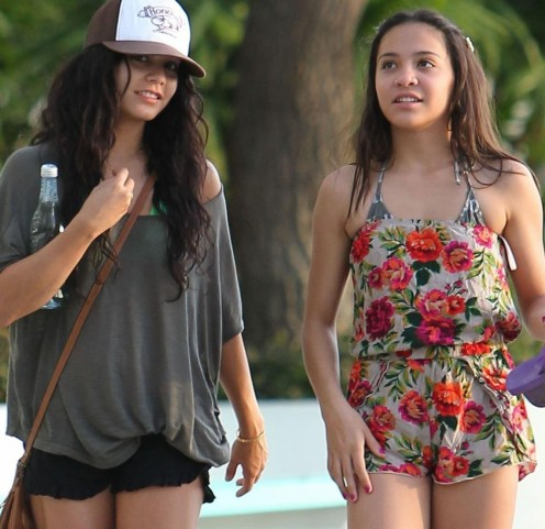 Lovely Vanessa Hudgens visiting the islands with a friend.