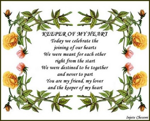 Wedding Anniversary Poem Poster by Injete