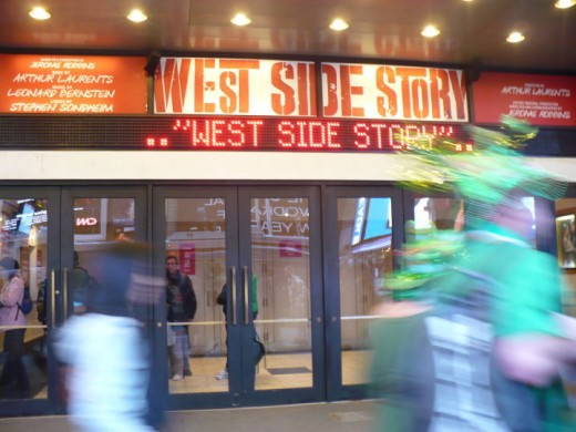 """West Side Story"" playing in Times Square, Manhattan, NYC"
