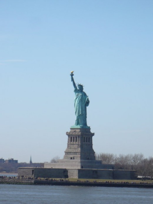 The Statue of Liberty as seen from the Staten Island Ferry, NYC