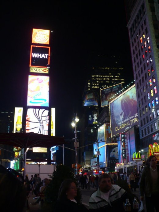 Times Square at night, Manhattan, NYC
