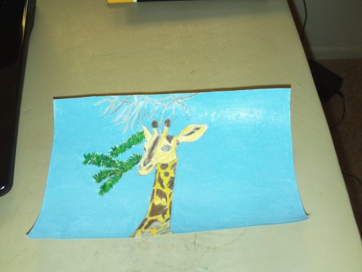 Another picture in the process of drawing a giraffe step by step.
