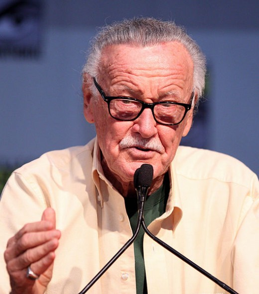 Creator-writer of superheroes like Spider-Man, Iron-Man, STAN LEE was born on Dec. 28, 1922 in New York City.  He's pictured in San Diego, 23 July 2010.during the Comic Con
