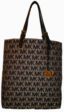 The Michael Kors logo decorates this tote bag