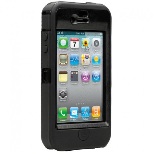OtterBox Defender Series Case for iPhoen 4 Black / Black