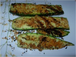 Ask DJ Lyons: Grilled Zucchini and Wheat Germ Appetizer