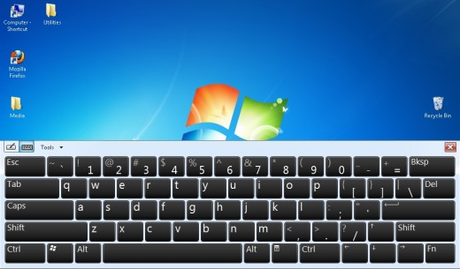 Virtualtouch keyboard