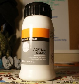 Acrylic Gesso from Wal-Mart