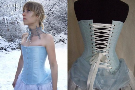 Snow Queen Overbust Corset (Custom Made) from Corset Wonderland