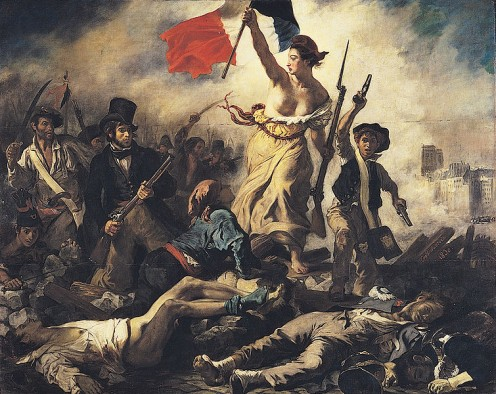 """Liberty Leading the People"" (1830) by Eugene Delacroix epitomises the romantic view of nationalism,. Image via Wikipedia"