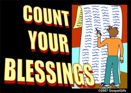 Count Your Blessings/Then Pick Them Up/They Are Waiting To Be Claimed