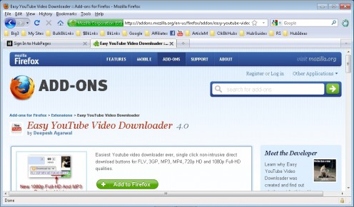Easy Youtube Downloader.  One of several good add-ons for the Lenovo S10-3t