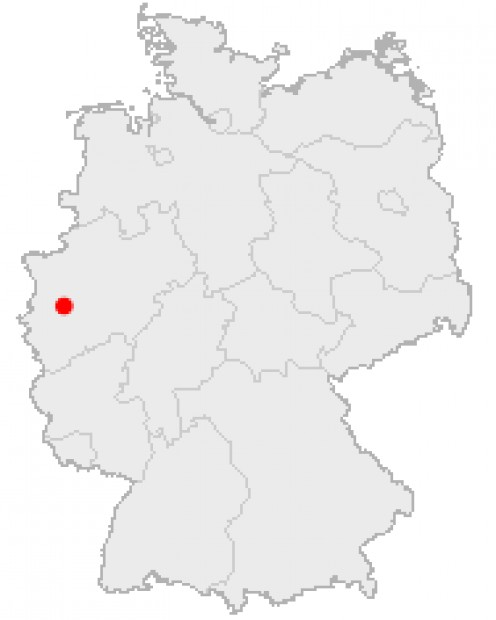Map location of Duesseldorf, Germany