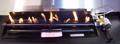 This is from the display burner.  The gas fireplace burner has the same main pipe burner as the G4 but adds flames with the added front burner for the fireplace gas flamed embers.