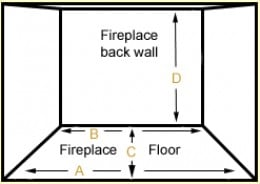 most fireplace fire boxes are larger at the opening than at the back wall.  The RealFyre G46 burner matches this shape and hides the valve for a more realistic appearance and no visible means of production.