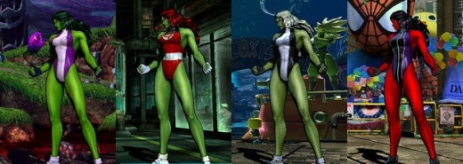 Zero copies other Megaman Characters as She-Hulk blends freelance with her Fantastic Four days.