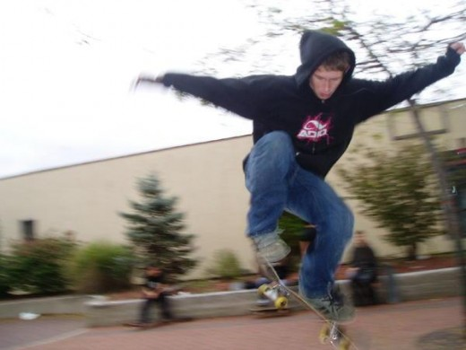My son Dave skating in town