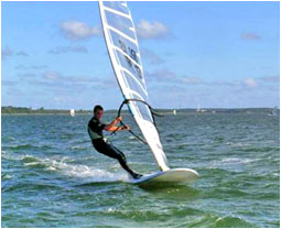 Windsurfing is a popular activity among tourists visiting Sri Lanka