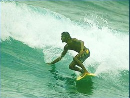Surfing at Arugam Bay in Sri Lanka