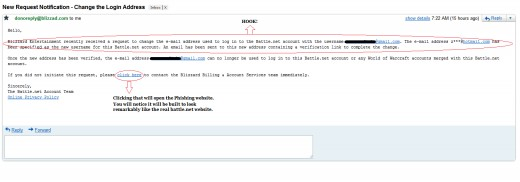 Wow Phishing Scam Email - You can click on the image to make it full-size.