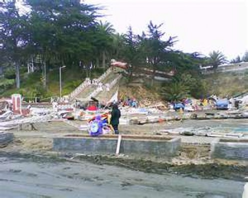 Earthquake damage in Chile in February 2010