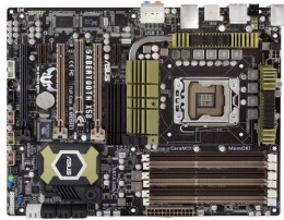 Our choice of Best Motherboard under 200 for 2011: Asus LGA 1366 Intel X58 Extreme Reliability and Durability ATX Motherboard Sabertooth X58
