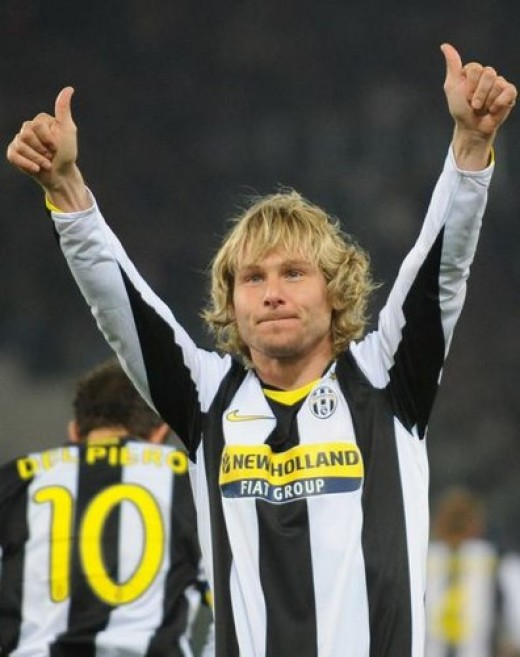 Pavel Nedved, Czech top player, midfield, one of the most beloved Juventus players in the last years.