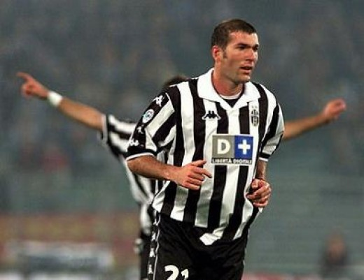 One of thebest football player of all the time: Zinedine Zidane reached his sportive maturity during Juventus years.