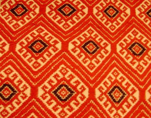 Mayan textiles often feature a diamond pattern that recapitulates the 4 X 13 pattern of the diamond back rattlesnake and the calendar round