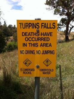 Waterfalls : Directions to Turpins Falls
