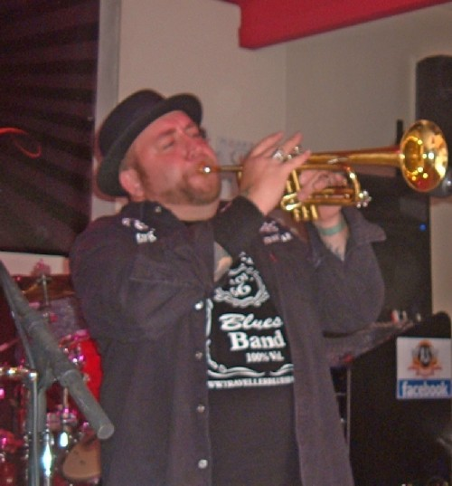 Whiskey plays the trumpet too