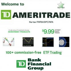 My Review of TD Ameritrade Online Brokerage Account and Free ETF