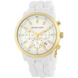 Michael Kors Women's Chronograph White Watch Runway Watch