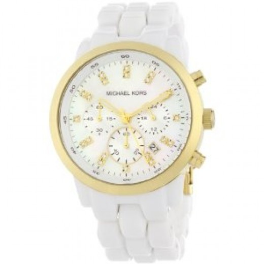 Michael Kors Women's Chronograph White Watch Runway Watch