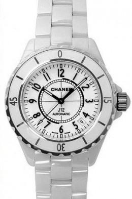 White Ceramic Chanel J12 Ladies Watch