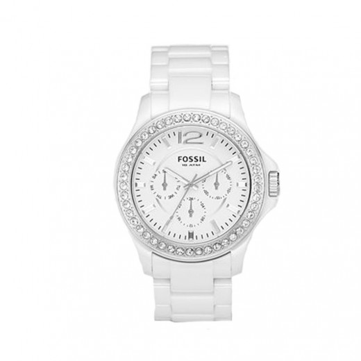Fossil Multi Function White Ceramic Watch