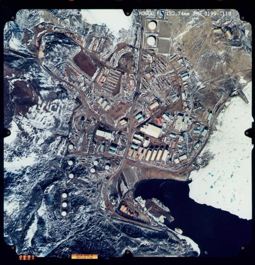 Satellite shot of McMurdo Station, Antarctica