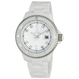 "Toy Watch White - This is the glam white watch that celebrity Sandra Billock wore in the Movie ""The Blind Side"""