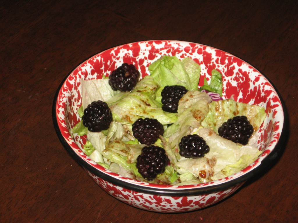 Blackberry-Pecan Salad with Blackberry Ginger Balsamic Vinaigrette