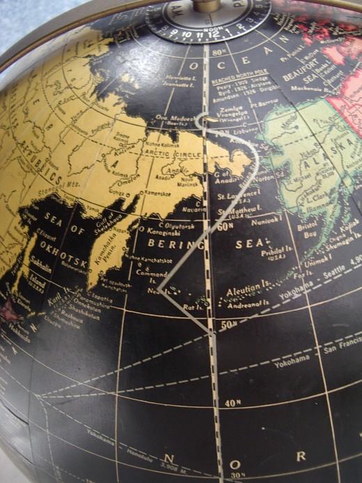 International Date Line - Northern Hemisphere