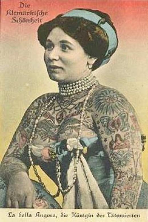 idei-dlya-tatuirovok - Старое время татуированный цирка женщин -  - фото
