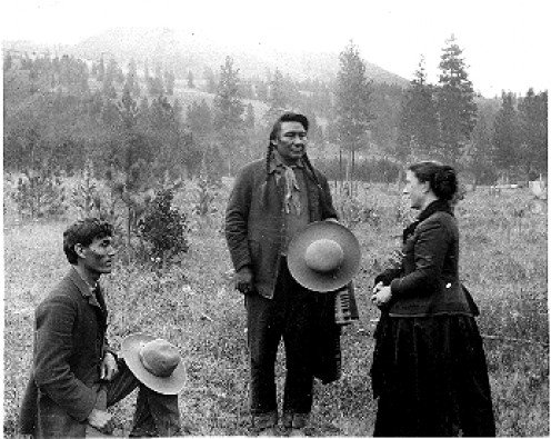 Alice Fletcher with Chief Joseph and interpeter
