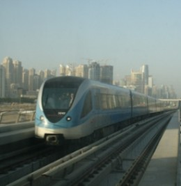 Dubai Metro trains are now a familiar sight along the Sheikh Zayed Road