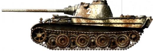 """A Pz V """"Panther"""" tank"""