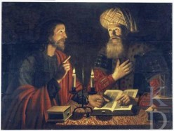 """Jesus & Nicodemus"" -by Crijn Hendricksz (1616-1645)"