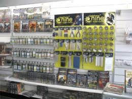 A hobby shop filled with miniatures and hobby supplies.