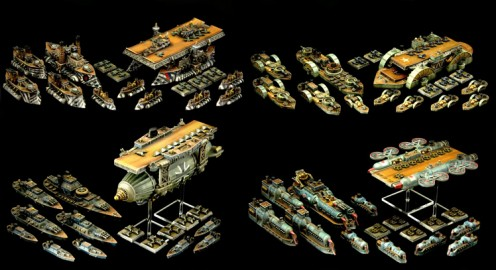 Miniatures from Dystopian Wars