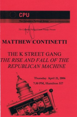 Matthew Continetti is a commentator and journalist who at the time wrote for the Weekly Standard. Articles of his have also appeared in the Washington Post, NYT and elsewhere. His website is matthewconetti.net.